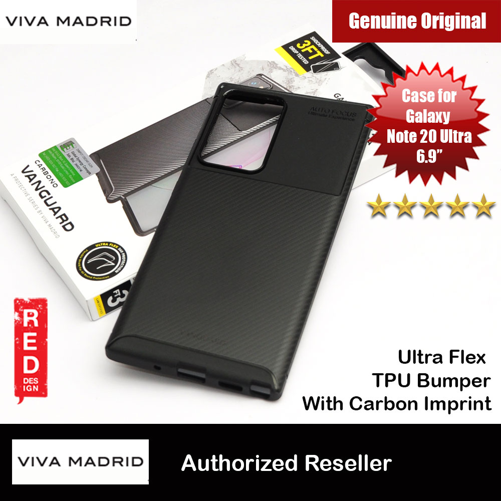 Picture of Viva Madrid Carbono Vanguard Drop Protection Case Ultra Flex TPU Bumper With Carbon Imprint High Quality Durable Case for Samsung Galaxy Note 20 Ultra 6.9 (Black) Samsung Galaxy Note 20 Ultra- Samsung Galaxy Note 20 Ultra Cases, Samsung Galaxy Note 20 Ultra Covers, iPad Cases and a wide selection of Samsung Galaxy Note 20 Ultra Accessories in Malaysia, Sabah, Sarawak and Singapore