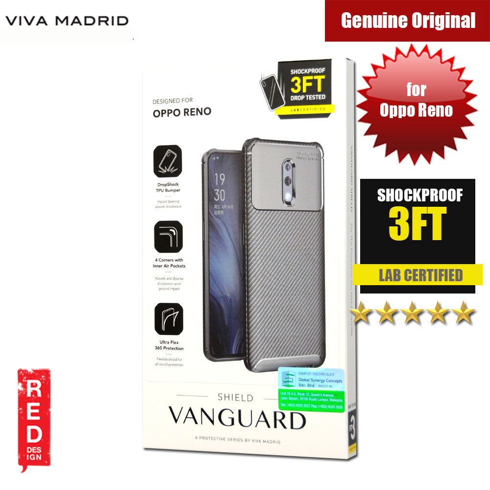 Picture of Viva Madrid Vanguard Drop ShockProof Protection Case for Oppo Reno (Black) Oppo Reno- Oppo Reno Cases, Oppo Reno Covers, iPad Cases and a wide selection of Oppo Reno Accessories in Malaysia, Sabah, Sarawak and Singapore