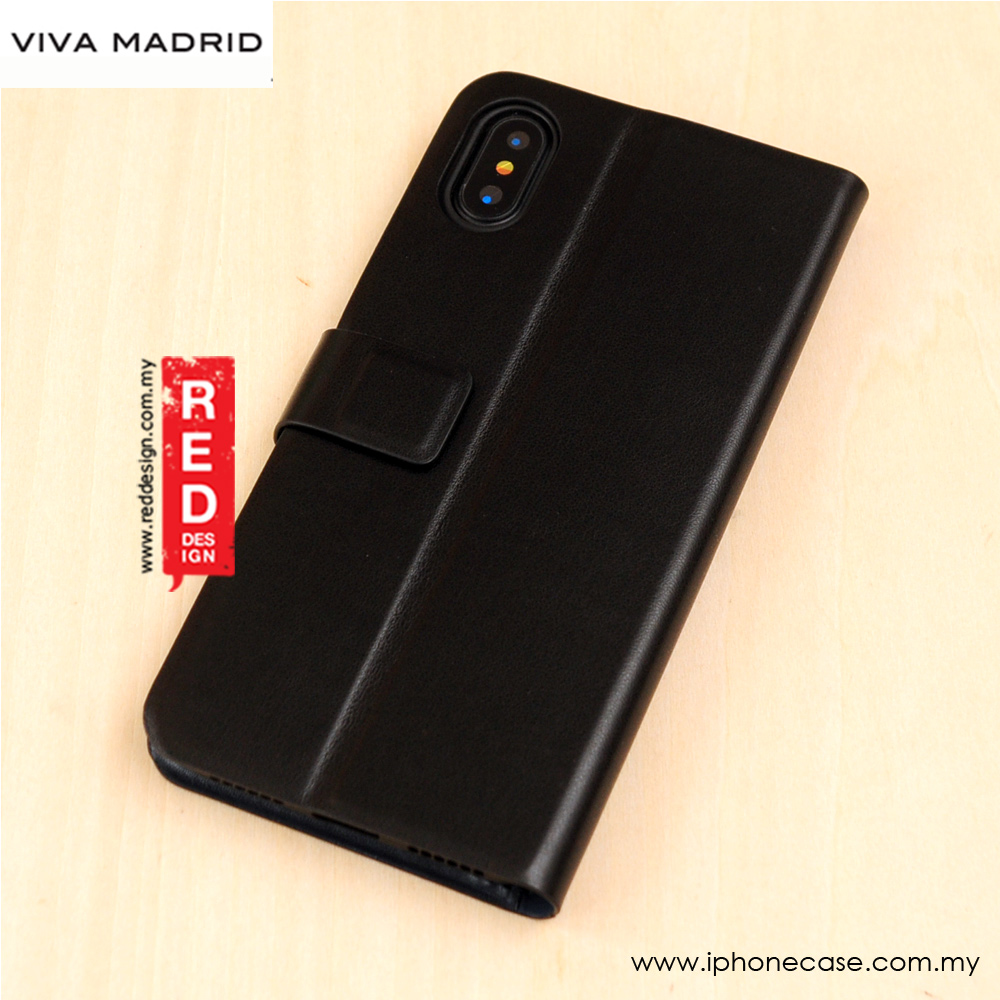 Picture of Apple iPhone X Case | Viva Madrid Finura Cierre Flip Wallet Case for Apple iPhone X (Black)