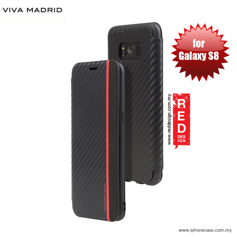 Picture of Viva Madrid Grafito Vertico Flip Cover Stand Case for Samsung Galaxy S8 - Black Samsung Galaxy S8- Samsung Galaxy S8 Cases, Samsung Galaxy S8 Covers, iPad Cases and a wide selection of Samsung Galaxy S8 Accessories in Malaysia, Sabah, Sarawak and Singapore