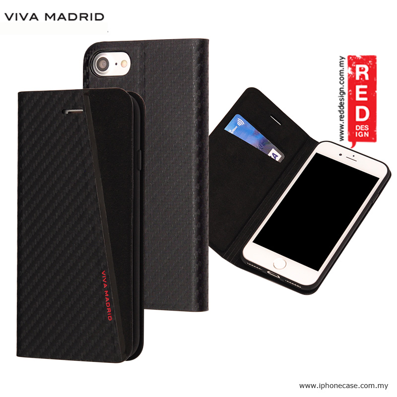 Picture of Viva Madrid Grafito Racha Flip Cover Case for Apple iPhone 7 iPhone 8 4.7 - Black Apple iPhone 8- Apple iPhone 8 Cases, Apple iPhone 8 Covers, iPad Cases and a wide selection of Apple iPhone 8 Accessories in Malaysia, Sabah, Sarawak and Singapore