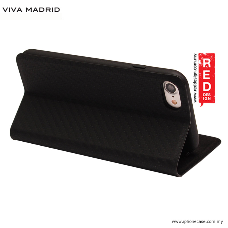 Picture of Apple iPhone 8 Case | Viva Madrid Grafito Racha Flip Cover Case for Apple iPhone 7 iPhone 8 4.7 - Black