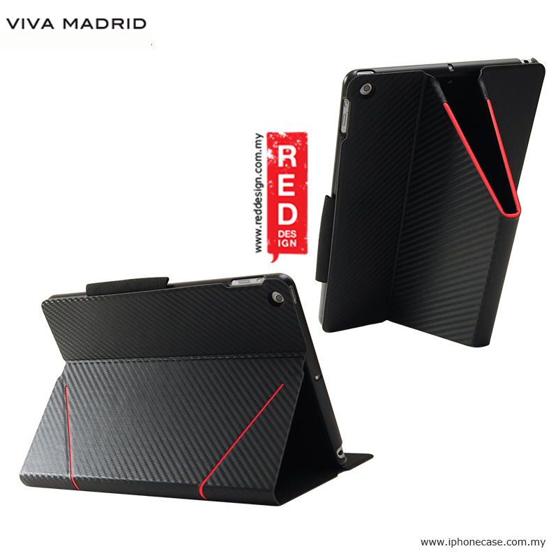 Picture of Apple iPad 9.7 2017 Case | Viva Madrid Grafito Flip Cover Stand Case for iPad 9.7 2017 - Black