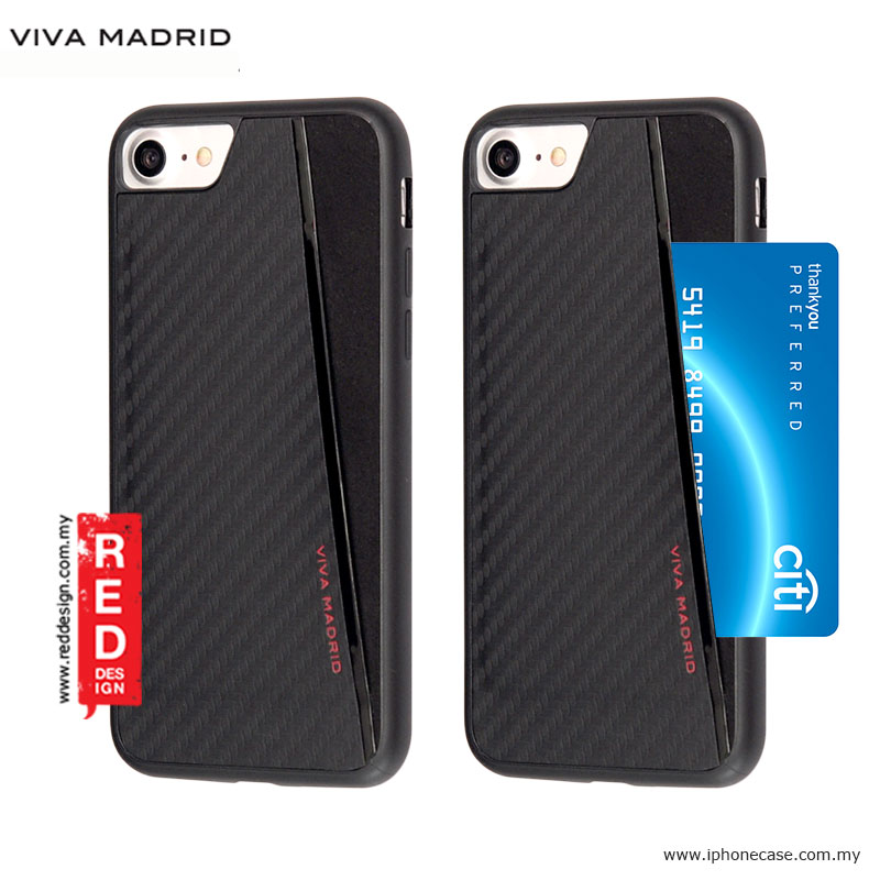 Picture of Viva Madrid Card Case Grafito Racha Series for iPhone 7 iPhone 8 4.7 - Black Apple iPhone 8- Apple iPhone 8 Cases, Apple iPhone 8 Covers, iPad Cases and a wide selection of Apple iPhone 8 Accessories in Malaysia, Sabah, Sarawak and Singapore