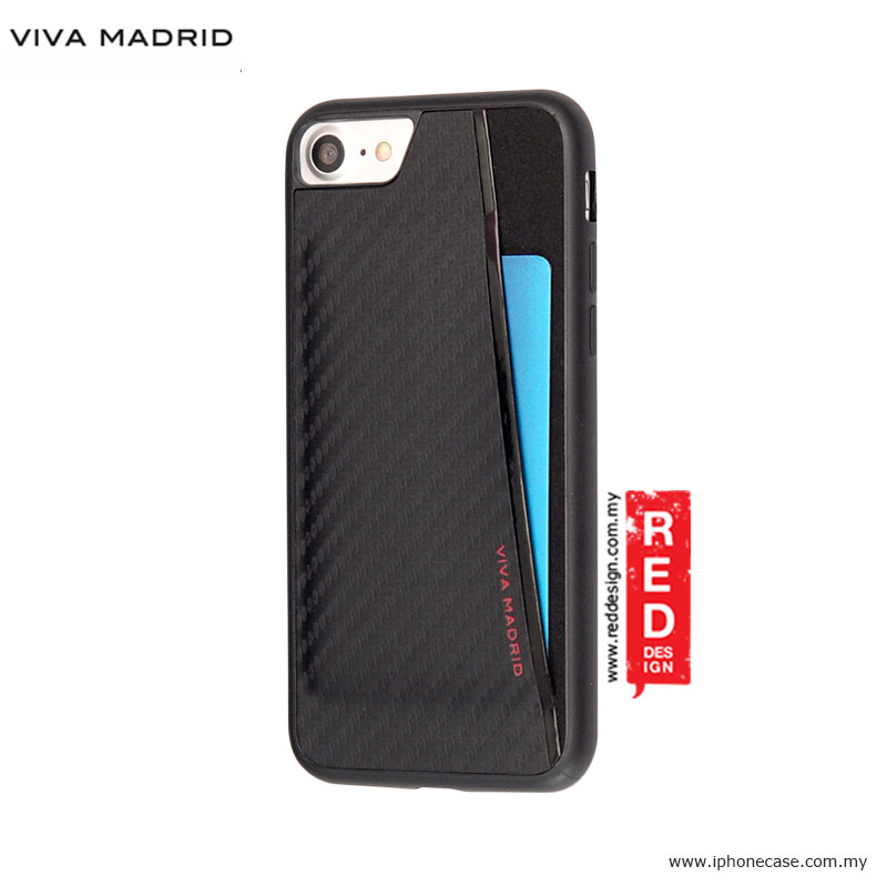 Picture of Apple iPhone 8 Case | Viva Madrid Card Case Grafito Racha Series for iPhone 7 iPhone 8 4.7 - Black