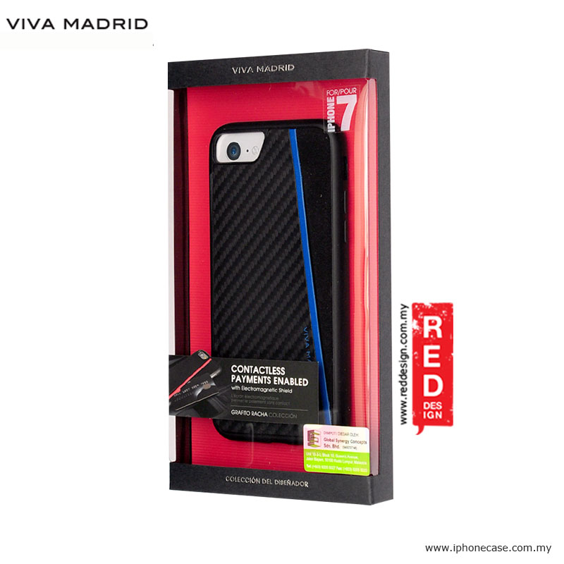 Picture of Apple iPhone 8 Case | Viva Madrid Card Case Grafito Racha Series for iPhone 7 iPhone 8 4.7 - Blue