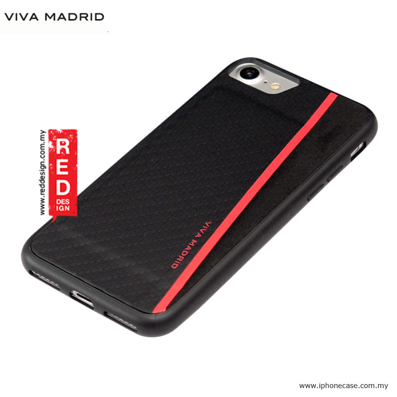 Picture of Apple iPhone 8 Case | Viva Madrid Card Case Grafito Racha Series for iPhone 7 iPhone 8 4.7 - Red