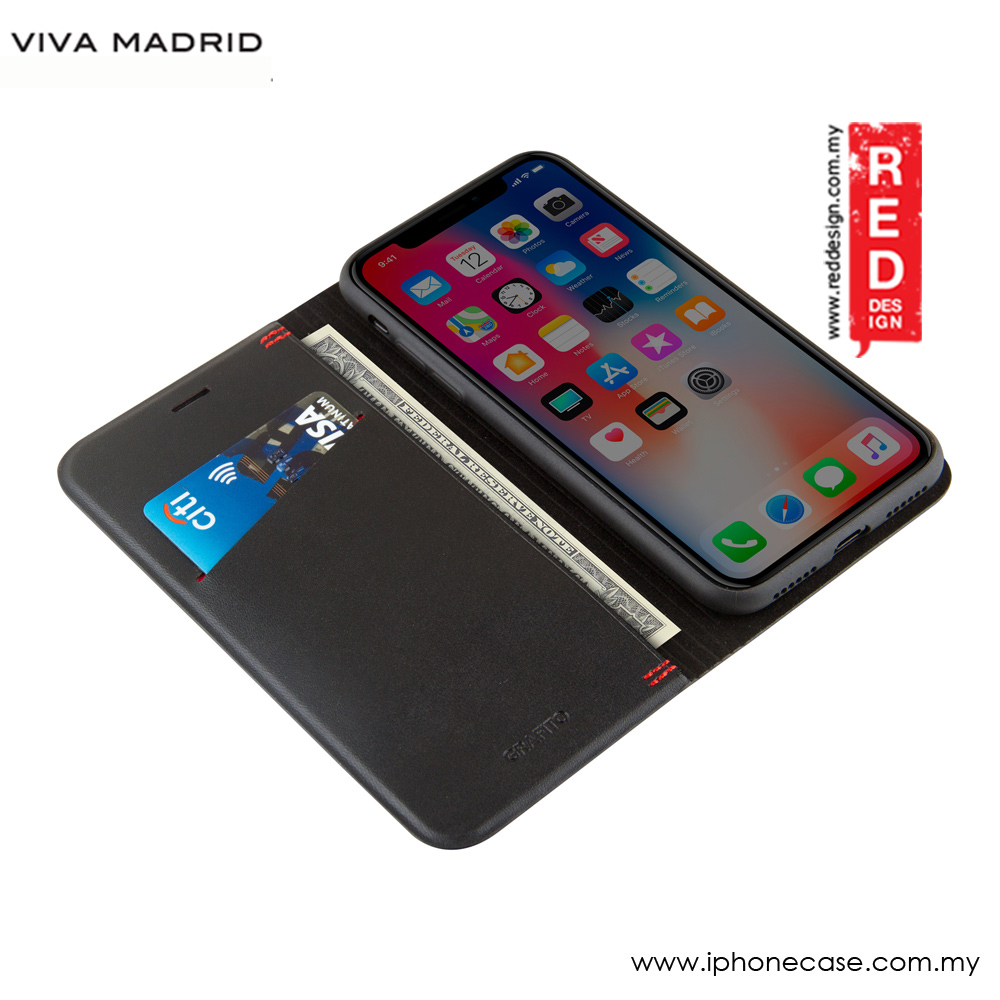 Picture of Apple iPhone X Case | Viva Madrid Grafito Flip Cover Case for Apple iPhone X (Hardi)