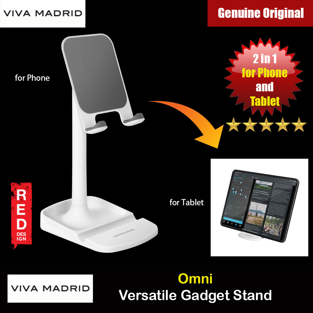 Picture of Viva Madrid Vanguard Omni Versatile Gadget Stand Universal Adjustable Angle Desktop Stand for Phone Tablet for Facebook Live Online Class Online Meeeting (White) Red Design- Red Design Cases, Red Design Covers, iPad Cases and a wide selection of Red Design Accessories in Malaysia, Sabah, Sarawak and Singapore