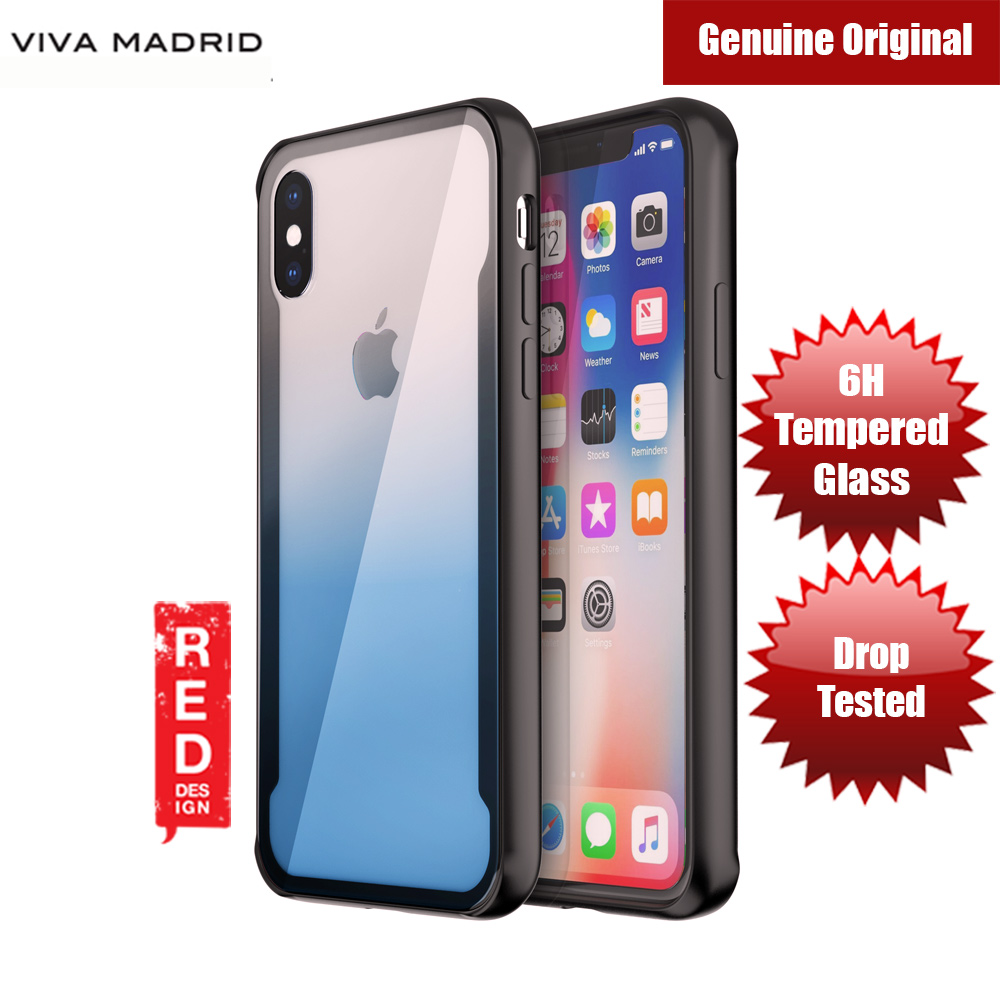 Picture of Viva Madrid Prisma Tempered Glass Protection Case for Apple iPhone X (Blue) Apple iPhone X- Apple iPhone X Cases, Apple iPhone X Covers, iPad Cases and a wide selection of Apple iPhone X Accessories in Malaysia, Sabah, Sarawak and Singapore