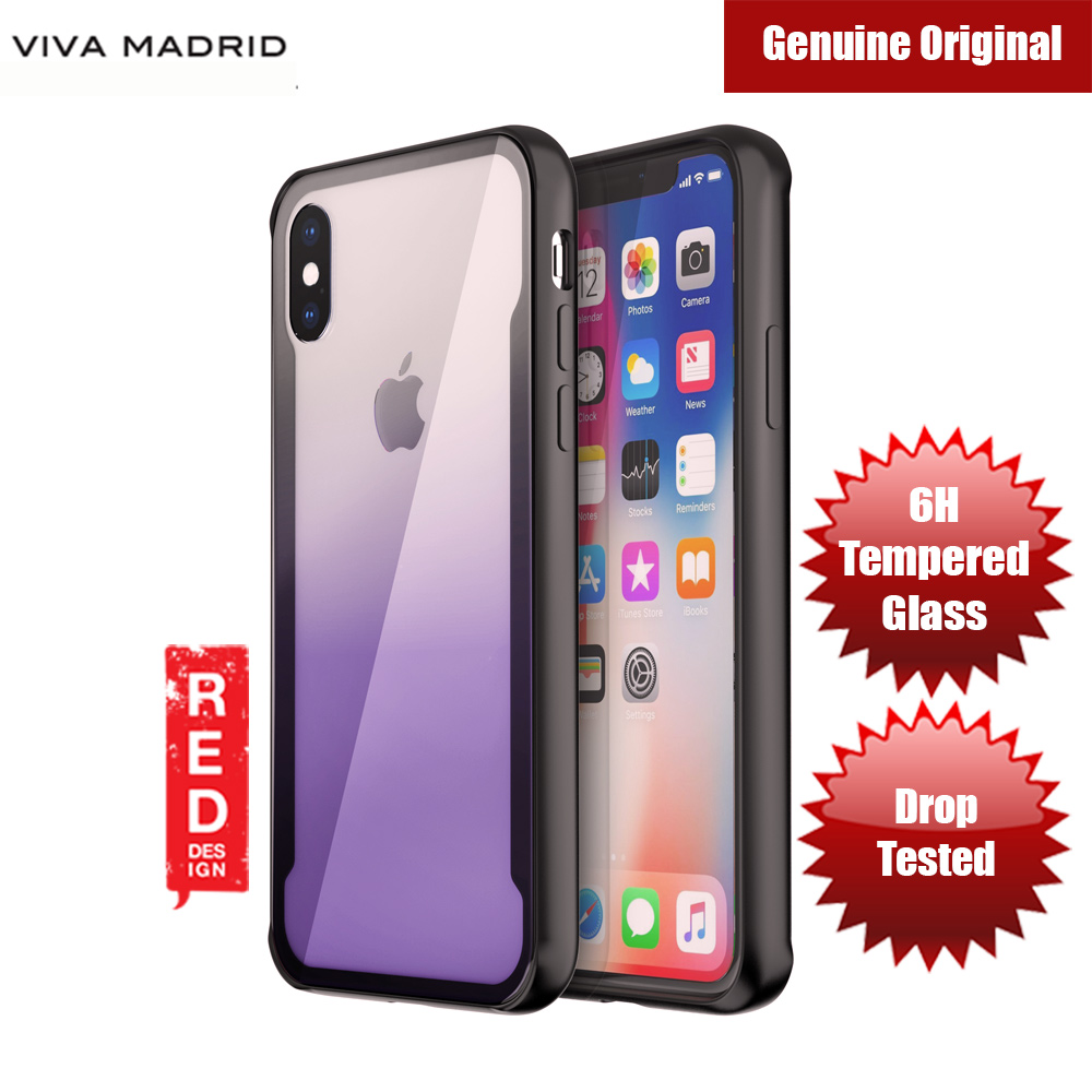 Picture of Viva Madrid Prisma Tempered Glass Protection Case for Apple iPhone X (Purple) Apple iPhone X- Apple iPhone X Cases, Apple iPhone X Covers, iPad Cases and a wide selection of Apple iPhone X Accessories in Malaysia, Sabah, Sarawak and Singapore