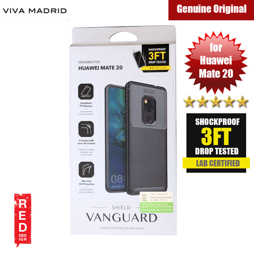 Picture of Viva Madrid Vanguard Drop ShockProof Protection Case for Huawei Mate 20 (Black) Huawei Mate 20- Huawei Mate 20 Cases, Huawei Mate 20 Covers, iPad Cases and a wide selection of Huawei Mate 20 Accessories in Malaysia, Sabah, Sarawak and Singapore