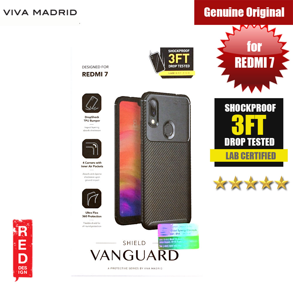 Picture of Viva Madrid Vanguard Drop ShockProof Protection Case for Xiaomi Redmi 7 (Black) XIAOMI REDMI 7- XIAOMI REDMI 7 Cases, XIAOMI REDMI 7 Covers, iPad Cases and a wide selection of XIAOMI REDMI 7 Accessories in Malaysia, Sabah, Sarawak and Singapore