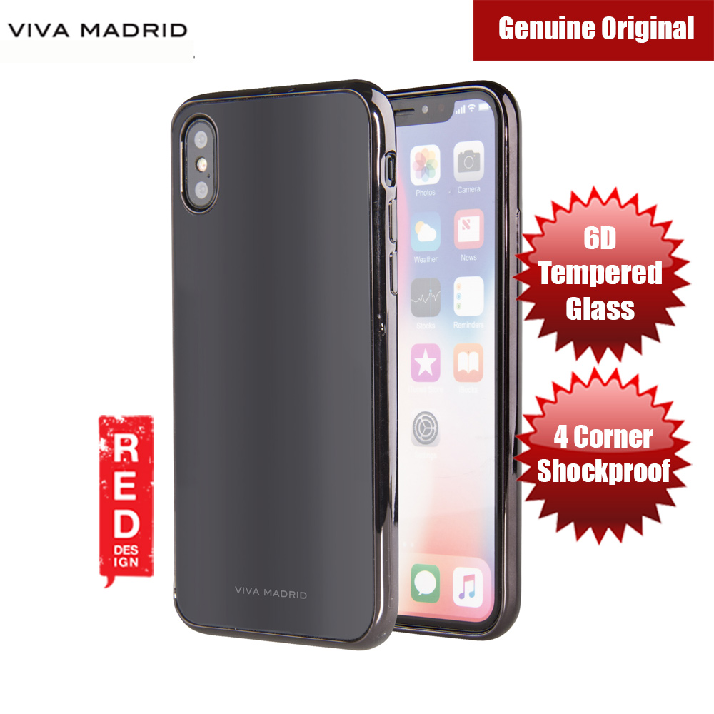 Picture of Viva Madrid Vaso Tempered Glass Protection Case for Apple iPhone X (Black) Apple iPhone X- Apple iPhone X Cases, Apple iPhone X Covers, iPad Cases and a wide selection of Apple iPhone X Accessories in Malaysia, Sabah, Sarawak and Singapore