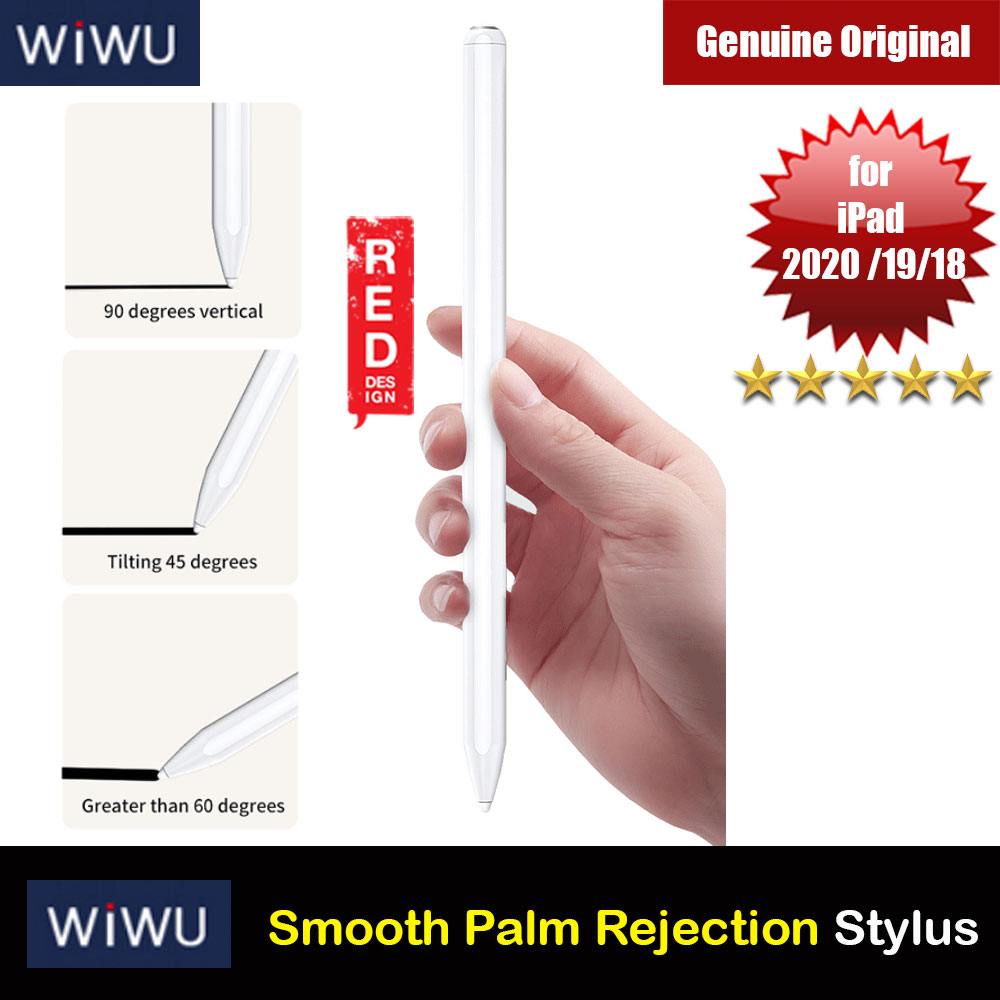 Picture of WIWU iPad Pencil Tilt Sensitivity Tablet Touch Pen Support Palm Rejection for iPad10.2 2019 iPad Pro 11 2020 2018 iPad Pro 12.9 2020 2018 iPad 6th Gen iPad Air 3rd Gen and iPad Mini (White) Red Design- Red Design Cases, Red Design Covers, iPad Cases and a wide selection of Red Design Accessories in Malaysia, Sabah, Sarawak and Singapore