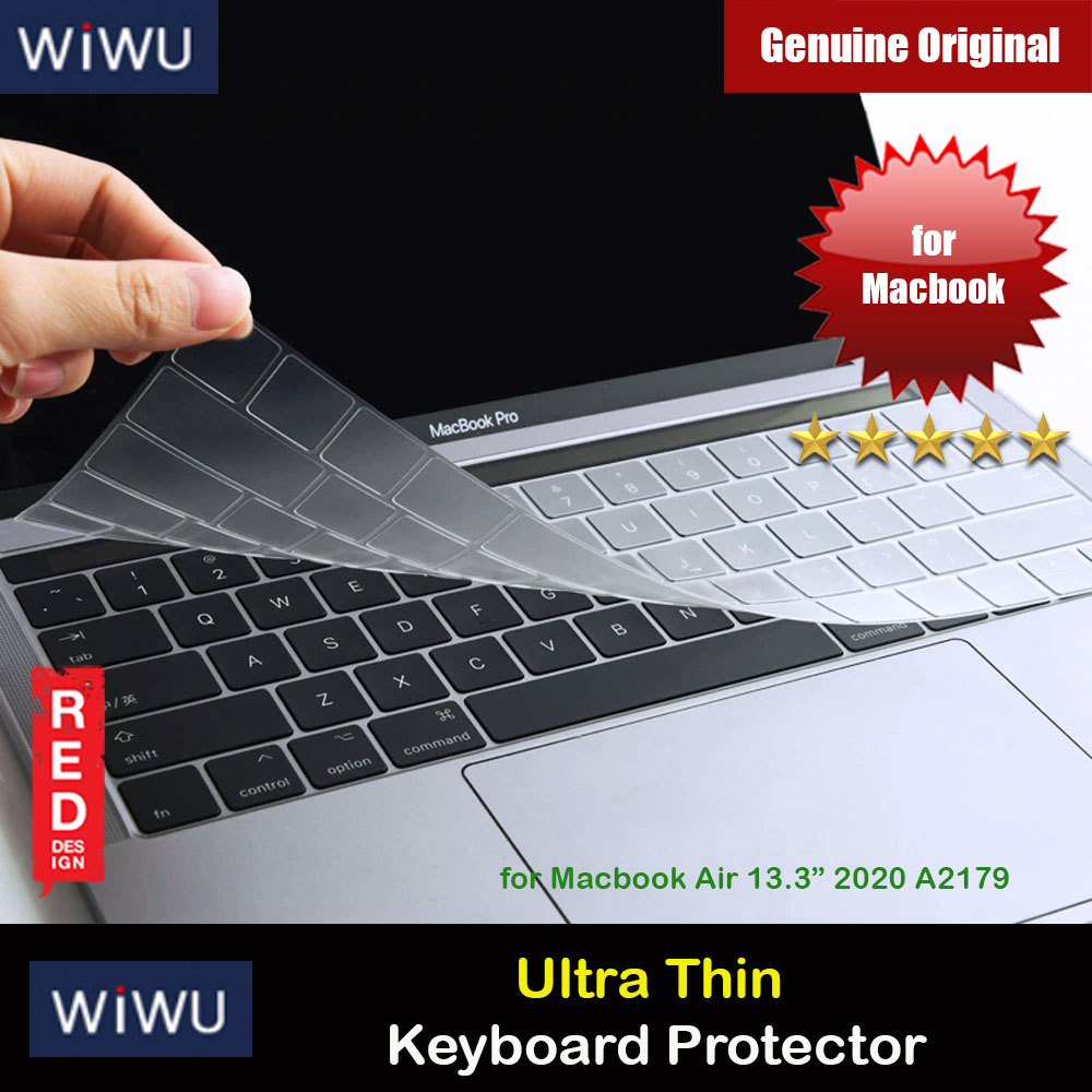 "Picture of WIWU High Transparency Ultra Thin Keyboard Cover Protector for Macbook Air 13"" 2020 A2179 Red Design- Red Design Cases, Red Design Covers, iPad Cases and a wide selection of Red Design Accessories in Malaysia, Sabah, Sarawak and Singapore"