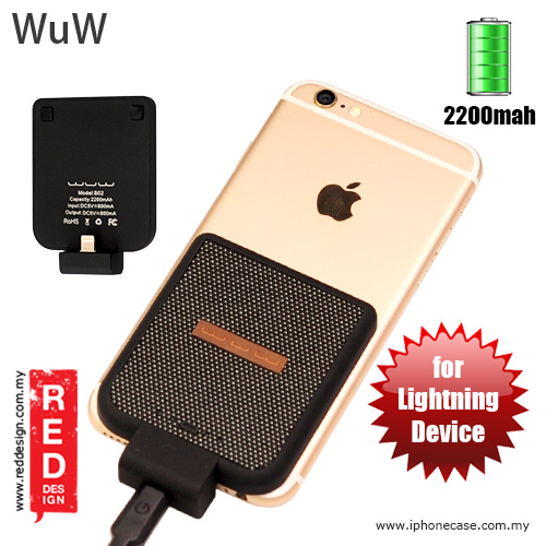 Picture of WUW Power Pack iPhone SE iPhone 6S iPhone 6S Plus iPhone 7 iPhone 7 Plus External Power Bank Back Clip 2200 mah - Black