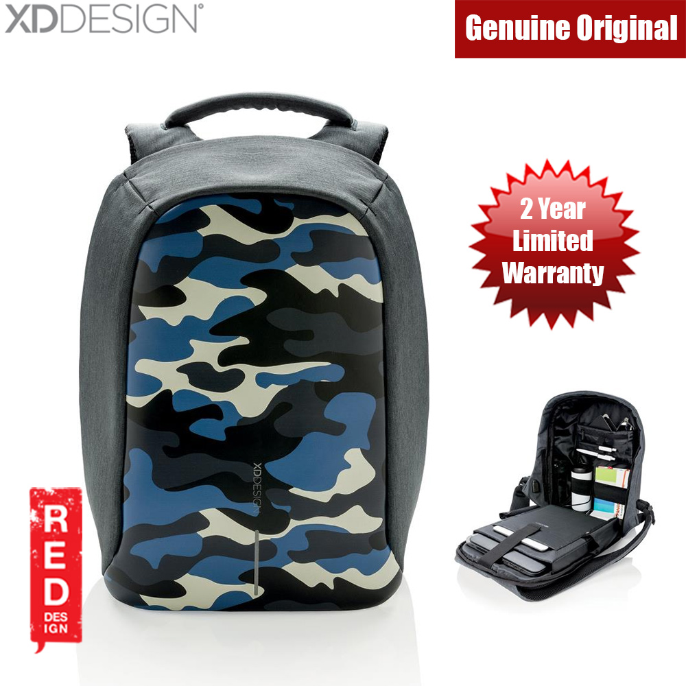 Picture of XD Design Bobby Compact Anti Theft Backpack (Camouflage Blue) Red Design- Red Design Cases, Red Design Covers, iPad Cases and a wide selection of Red Design Accessories in Malaysia, Sabah, Sarawak and Singapore