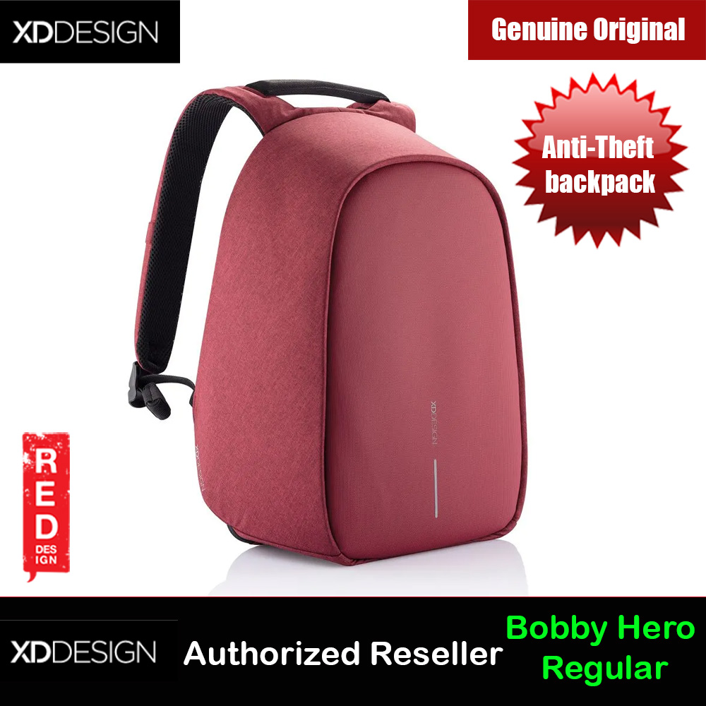 Picture of XD Design Bobby Hero Regular Anti-Theft backpack (Cherry Red) Red Design- Red Design Cases, Red Design Covers, iPad Cases and a wide selection of Red Design Accessories in Malaysia, Sabah, Sarawak and Singapore