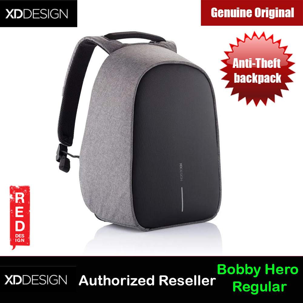 Picture of XD Design Bobby Hero Regular Anti-Theft backpack (Grey) Red Design- Red Design Cases, Red Design Covers, iPad Cases and a wide selection of Red Design Accessories in Malaysia, Sabah, Sarawak and Singapore