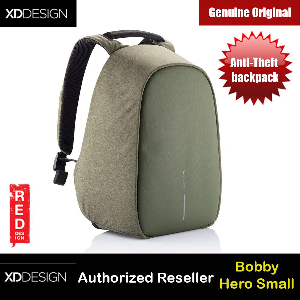Picture of XD Design Bobby Hero Small Anti-Theft backpack (Green) Red Design- Red Design Cases, Red Design Covers, iPad Cases and a wide selection of Red Design Accessories in Malaysia, Sabah, Sarawak and Singapore
