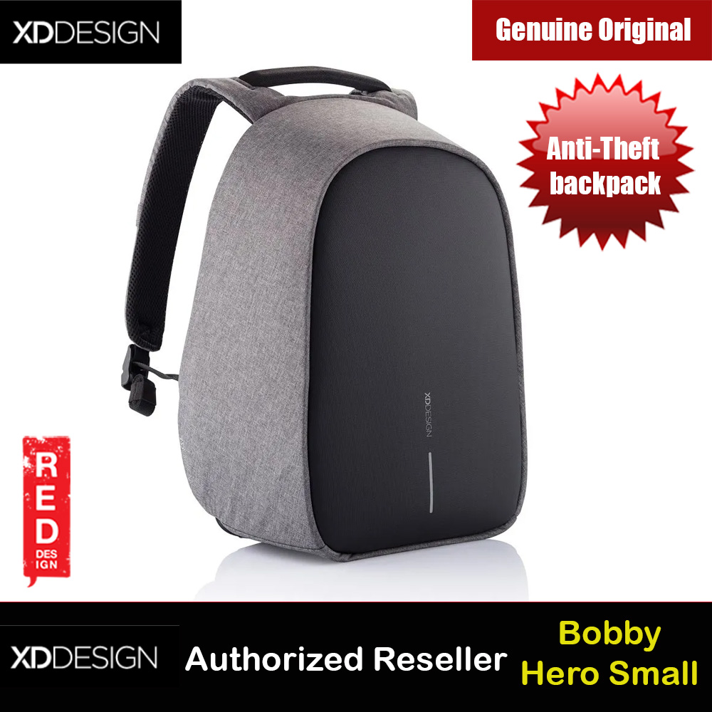 Picture of XD Design Bobby Hero Small Anti-Theft backpack (Grey) Red Design- Red Design Cases, Red Design Covers, iPad Cases and a wide selection of Red Design Accessories in Malaysia, Sabah, Sarawak and Singapore