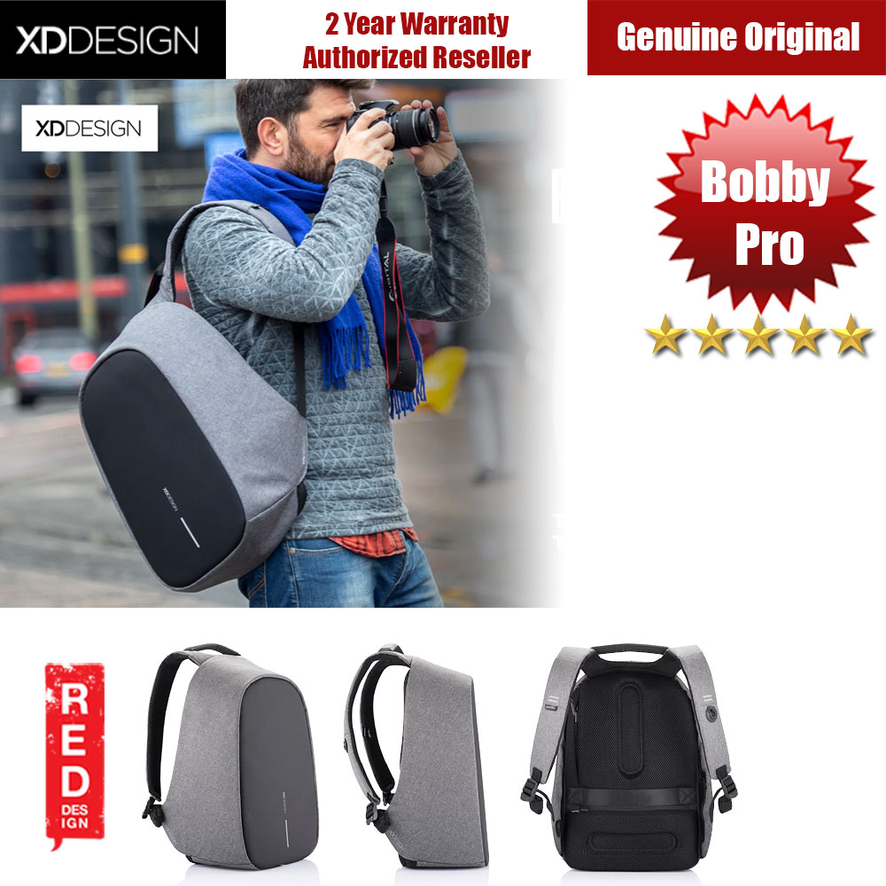 Picture of XD Design Bobby Pro Anti Theft Backpack (Grey) Red Design- Red Design Cases, Red Design Covers, iPad Cases and a wide selection of Red Design Accessories in Malaysia, Sabah, Sarawak and Singapore