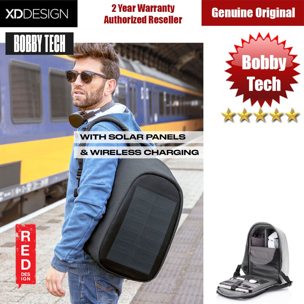 Picture of XD Design Bobby Tech Anti Theft Backpack with Solar Panel and Wireless Charging (Black) Red Design- Red Design Cases, Red Design Covers, iPad Cases and a wide selection of Red Design Accessories in Malaysia, Sabah, Sarawak and Singapore