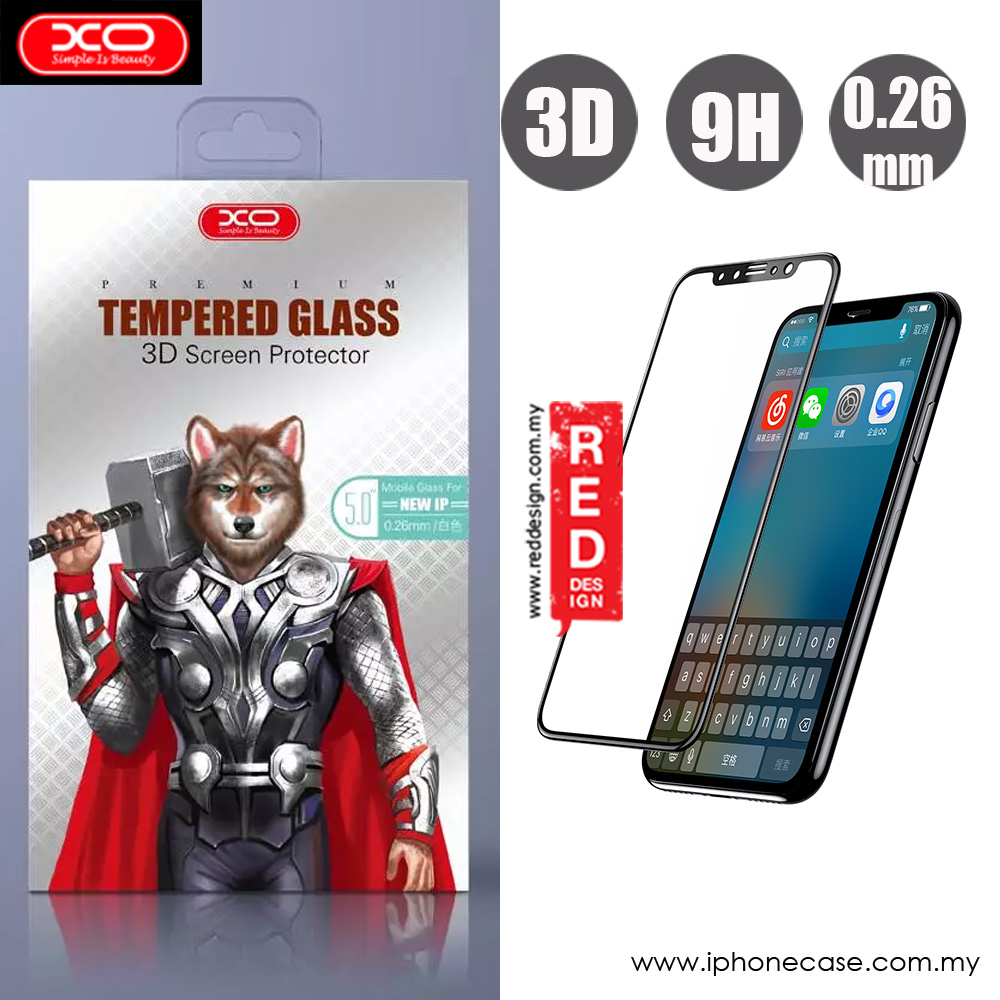 Picture of XO 3D High Quality Tempered Glass for Apple iPhone XS iPhone X (Black) Apple iPhone X- Apple iPhone X Cases, Apple iPhone X Covers, iPad Cases and a wide selection of Apple iPhone X Accessories in Malaysia, Sabah, Sarawak and Singapore