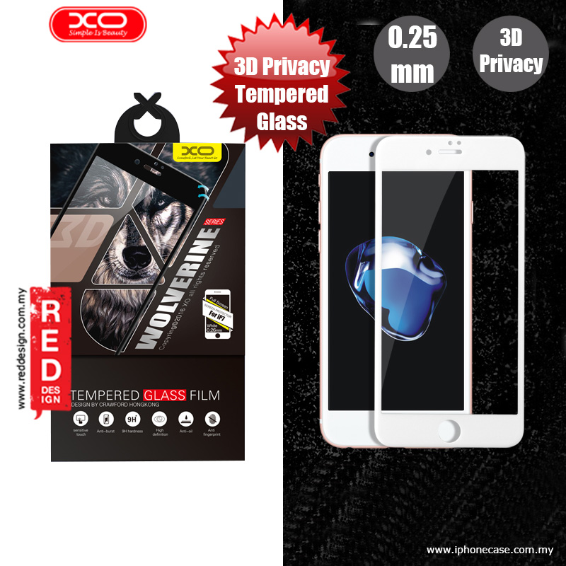 Picture of XO 3D PET Privacy Anti View Tempered Glass for Apple iPhone 7 iPhone 8 4.7 - White Apple iPhone 7 4.7- Apple iPhone 7 4.7 Cases, Apple iPhone 7 4.7 Covers, iPad Cases and a wide selection of Apple iPhone 7 4.7 Accessories in Malaysia, Sabah, Sarawak and Singapore