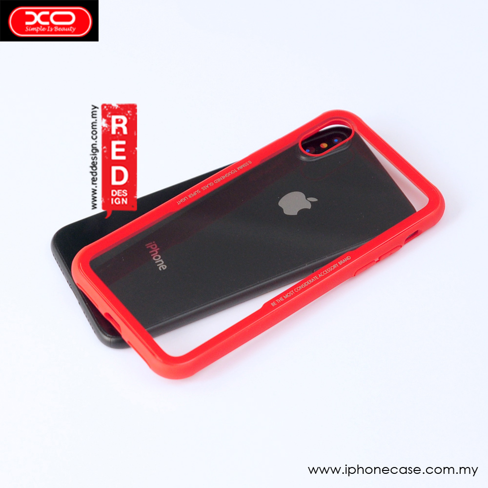 Xo Fashionable Smartphone Accessories Goospery Iphone X New Bumper Case Gold Picture Of Crystal Series Glass For Apple Xs Red