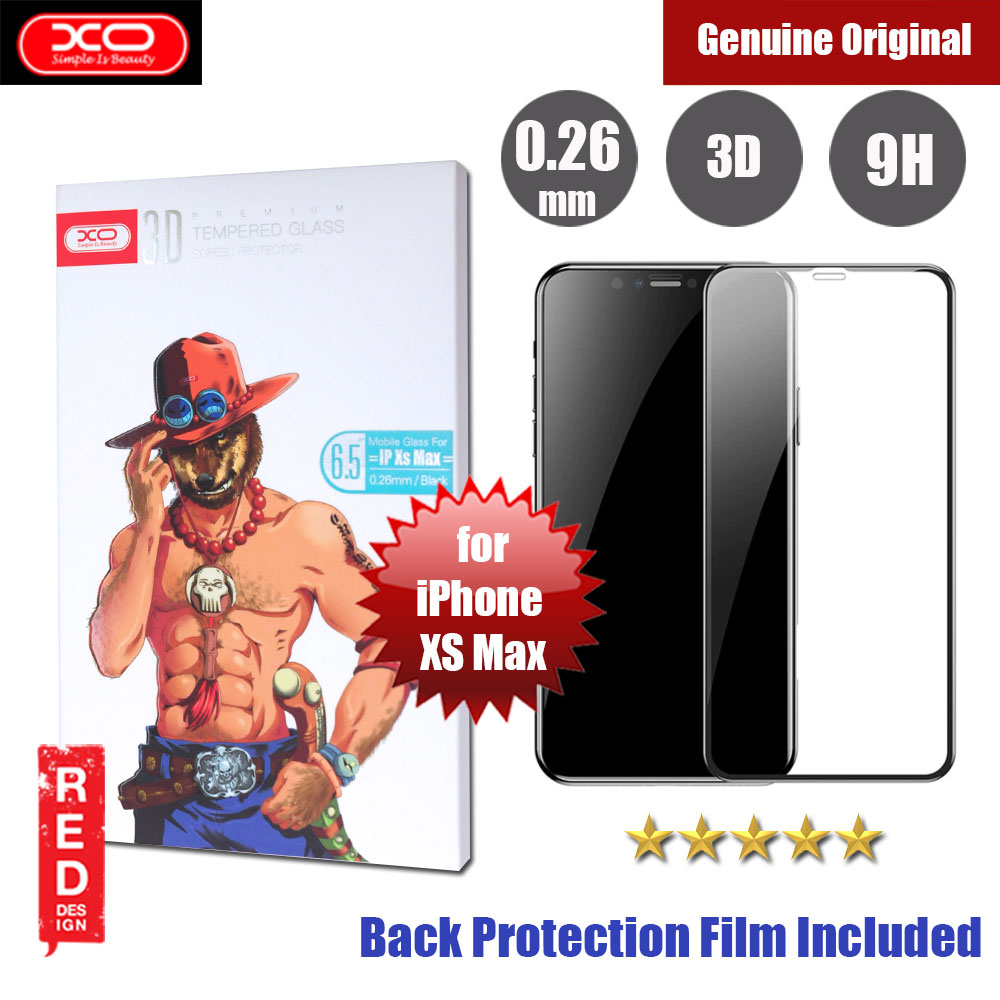 Picture of XO 3D Full Coverage Tempered Glass for Apple iPhone XS Max (Black) Apple iPhone XS Max- Apple iPhone XS Max Cases, Apple iPhone XS Max Covers, iPad Cases and a wide selection of Apple iPhone XS Max Accessories in Malaysia, Sabah, Sarawak and Singapore