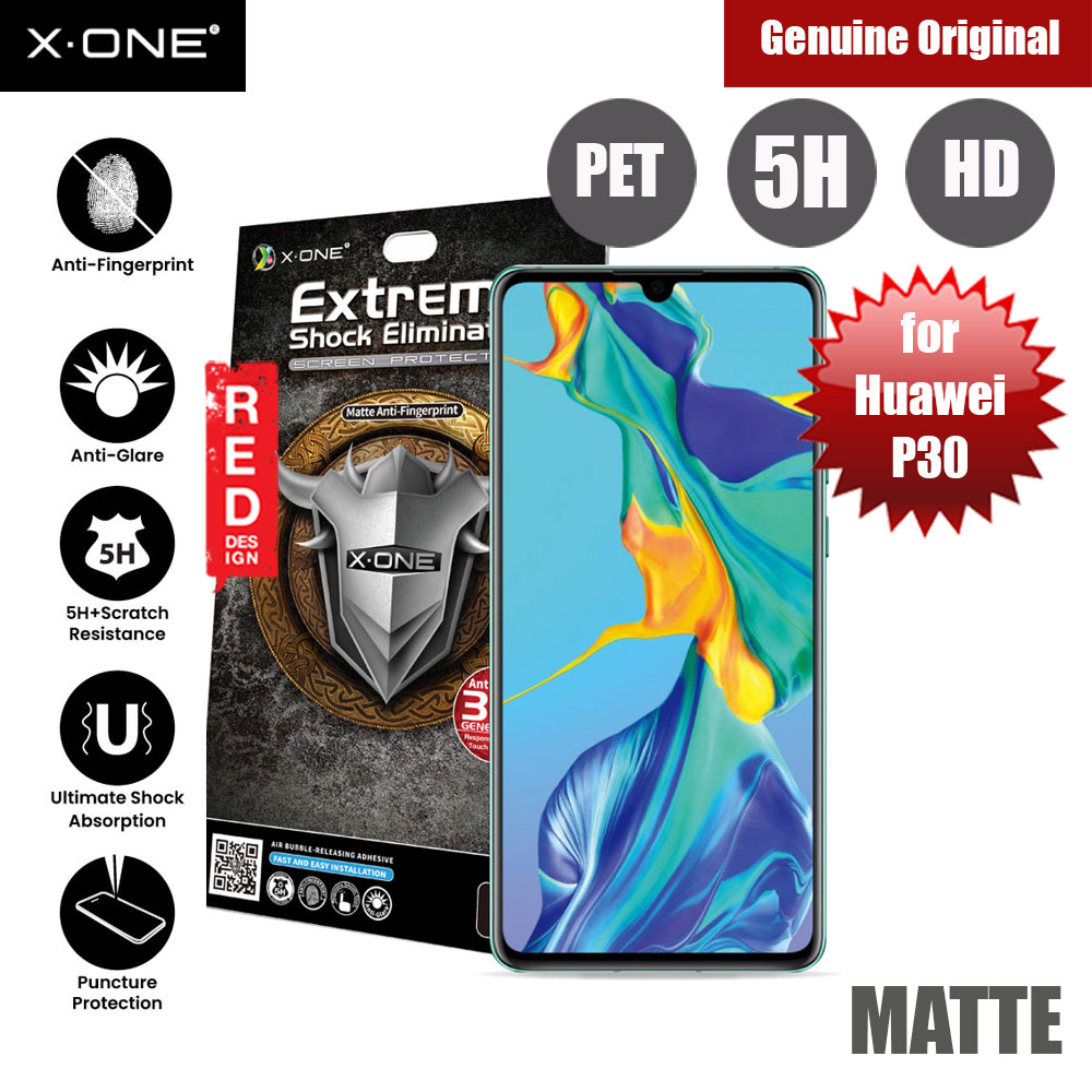 Picture of X.One Extreme Shock Eliminator PET Screen Protector For Huawei P30 (Matte) Huawei P30- Huawei P30 Cases, Huawei P30 Covers, iPad Cases and a wide selection of Huawei P30 Accessories in Malaysia, Sabah, Sarawak and Singapore