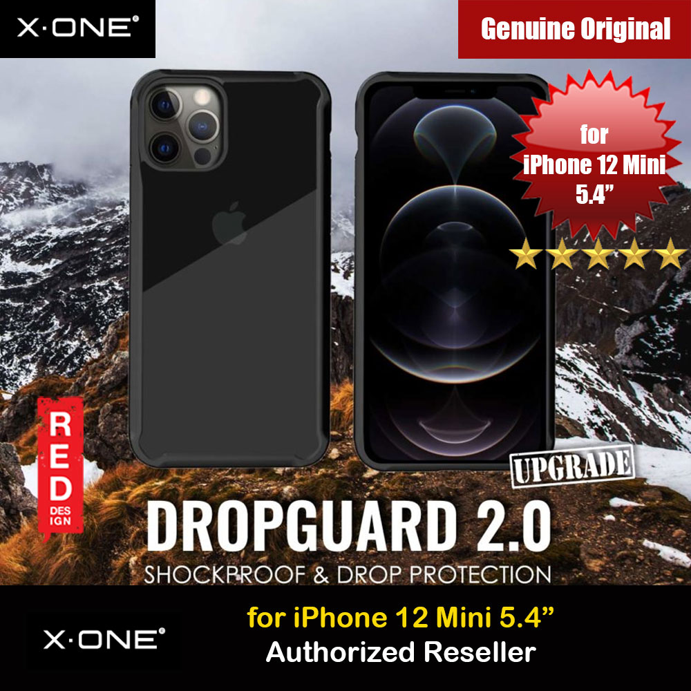 Picture of X.One DropGuard 2.0 Air Cushion Extreme Responsive Button Drop Protection Case for iPhone 12 Mini 5.4 (Clear Black) Upgraded  Version Apple iPhone 12 mini 5.4- Apple iPhone 12 mini 5.4 Cases, Apple iPhone 12 mini 5.4 Covers, iPad Cases and a wide selection of Apple iPhone 12 mini 5.4 Accessories in Malaysia, Sabah, Sarawak and Singapore