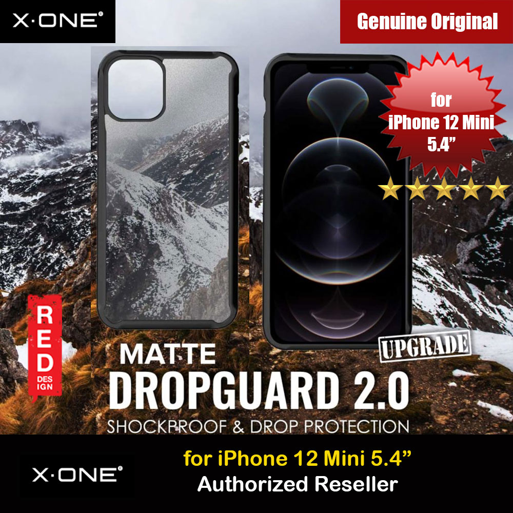 Picture of X.One DropGuard 2.0 Air Cushion Extreme Responsive Button Drop Protection Case for iPhone 12 Mini 5.4 (Matte Black) Upgraded  Version Apple iPhone 12 mini 5.4- Apple iPhone 12 mini 5.4 Cases, Apple iPhone 12 mini 5.4 Covers, iPad Cases and a wide selection of Apple iPhone 12 mini 5.4 Accessories in Malaysia, Sabah, Sarawak and Singapore