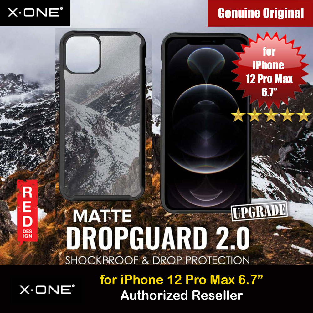 Picture of X.One DropGuard 2.0 Air Cushion Extreme Responsive Button Drop Protection Case for iPhone 12 Pro Max 6.7 (Matte Black) Upgraded  Version Apple iPhone 12 Pro Max 6.7- Apple iPhone 12 Pro Max 6.7 Cases, Apple iPhone 12 Pro Max 6.7 Covers, iPad Cases and a wide selection of Apple iPhone 12 Pro Max 6.7 Accessories in Malaysia, Sabah, Sarawak and Singapore