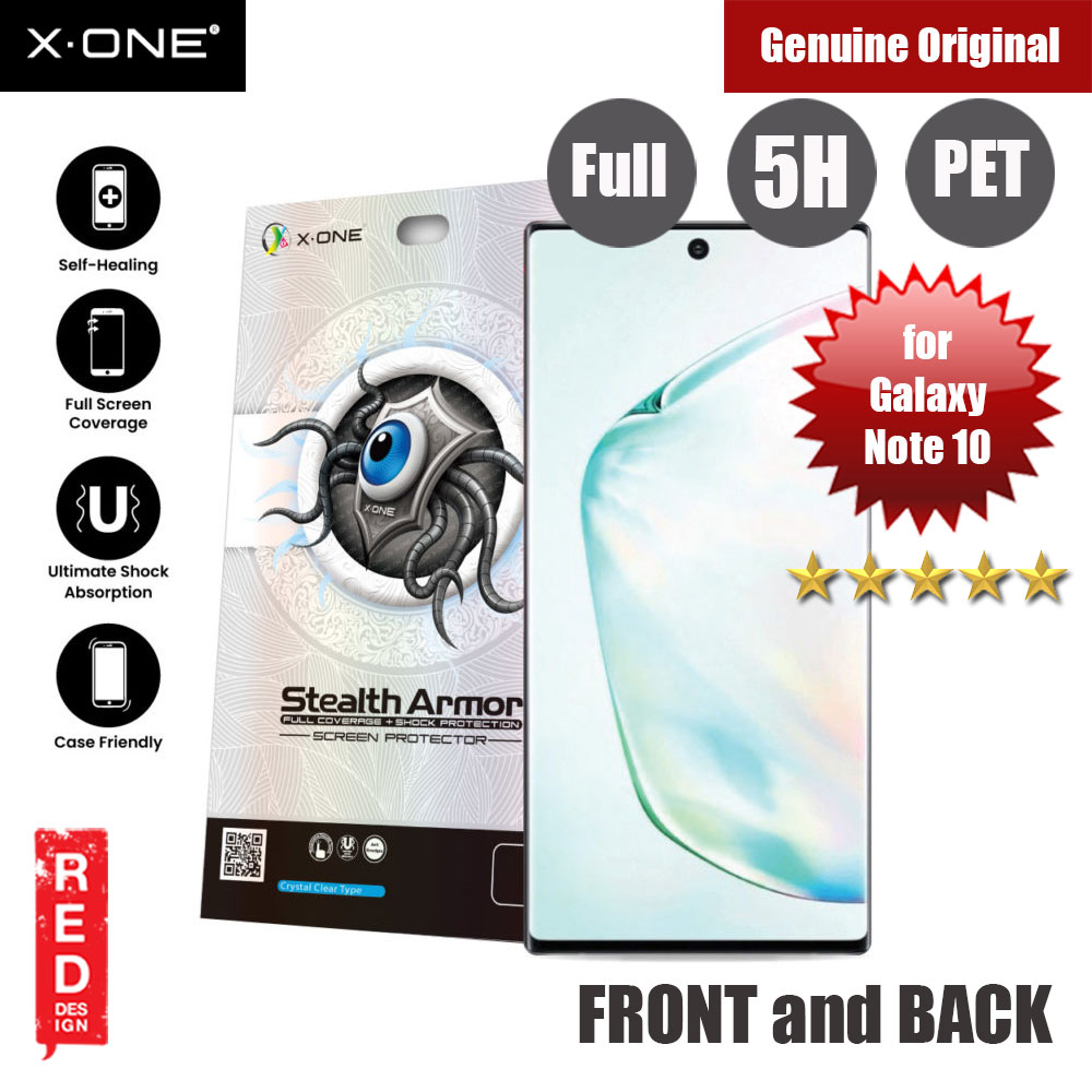 Picture of X.One Stealth Armor 2 Full Screen Coverage PET Screen Protector For Samsung Galaxy Note 10 (Front and Back) Samsung Galaxy Note 10- Samsung Galaxy Note 10 Cases, Samsung Galaxy Note 10 Covers, iPad Cases and a wide selection of Samsung Galaxy Note 10 Accessories in Malaysia, Sabah, Sarawak and Singapore