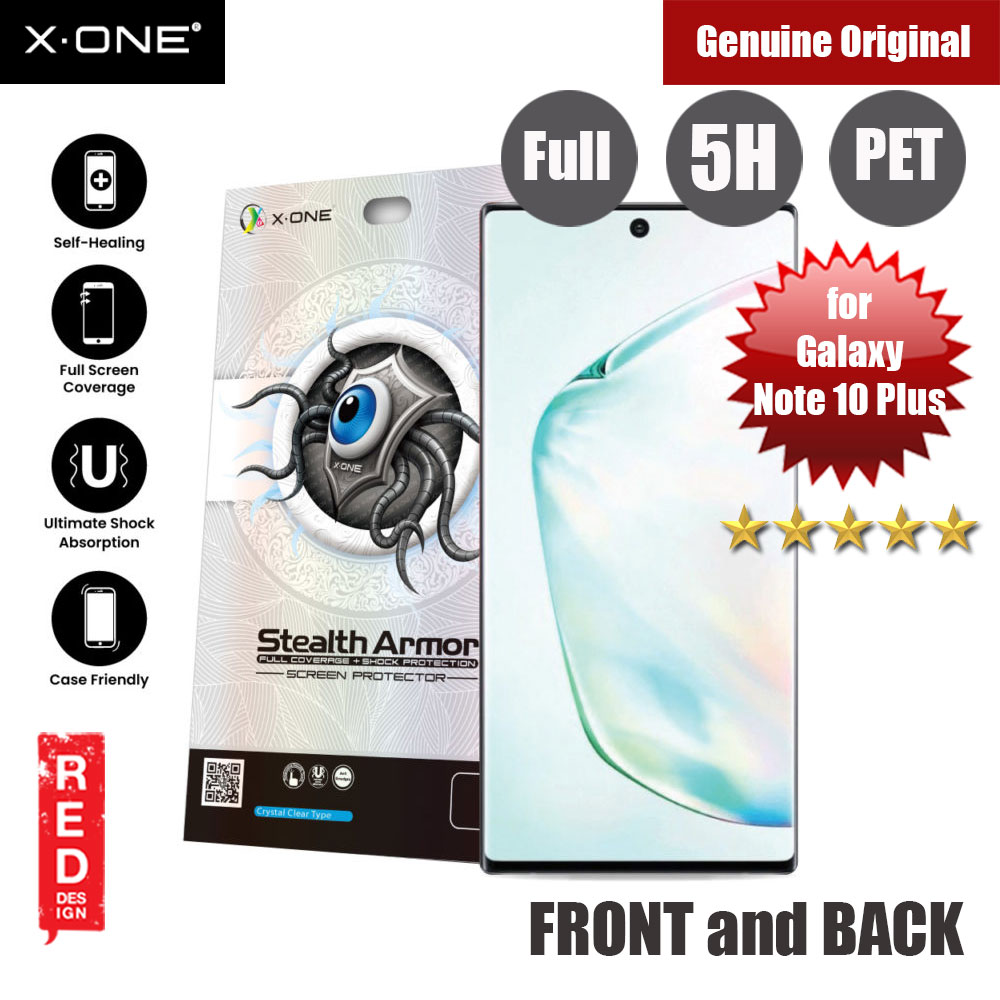 Picture of X.One Stealth Armor 2 Full Screen Coverage PET Screen Protector For Samsung Galaxy Note 10 Plus (Front and Back) Samsung Galaxy Note 10 Plus- Samsung Galaxy Note 10 Plus Cases, Samsung Galaxy Note 10 Plus Covers, iPad Cases and a wide selection of Samsung Galaxy Note 10 Plus Accessories in Malaysia, Sabah, Sarawak and Singapore