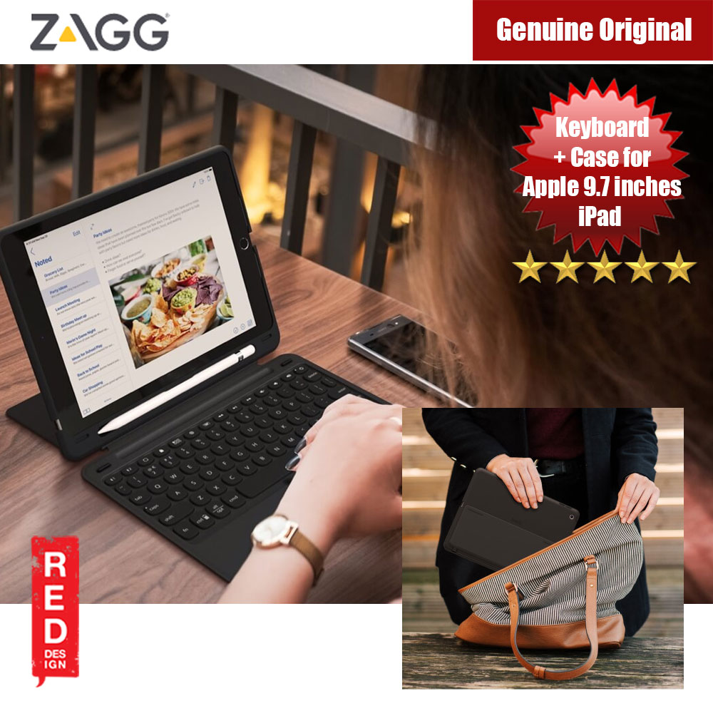 Picture of ZAGG Slim Book Go for the Apple 9.7-inch iPad iPad 9.7 (Black) Apple iPad 9.7 2018- Apple iPad 9.7 2018 Cases, Apple iPad 9.7 2018 Covers, iPad Cases and a wide selection of Apple iPad 9.7 2018 Accessories in Malaysia, Sabah, Sarawak and Singapore