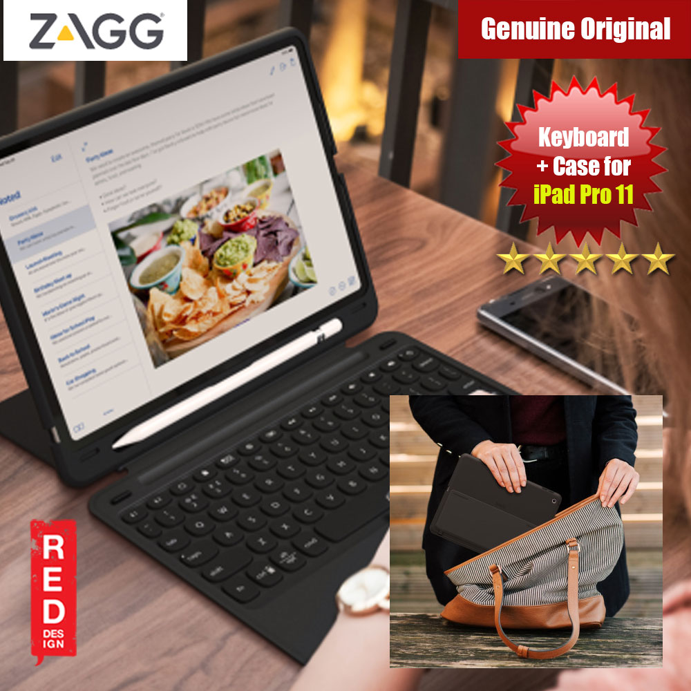 "Picture of ZAGG Slim Book Go for the Apple iPad Pro 11"" (Black) Apple iPad Pro 11.0 2018- Apple iPad Pro 11.0 2018 Cases, Apple iPad Pro 11.0 2018 Covers, iPad Cases and a wide selection of Apple iPad Pro 11.0 2018 Accessories in Malaysia, Sabah, Sarawak and Singapore"